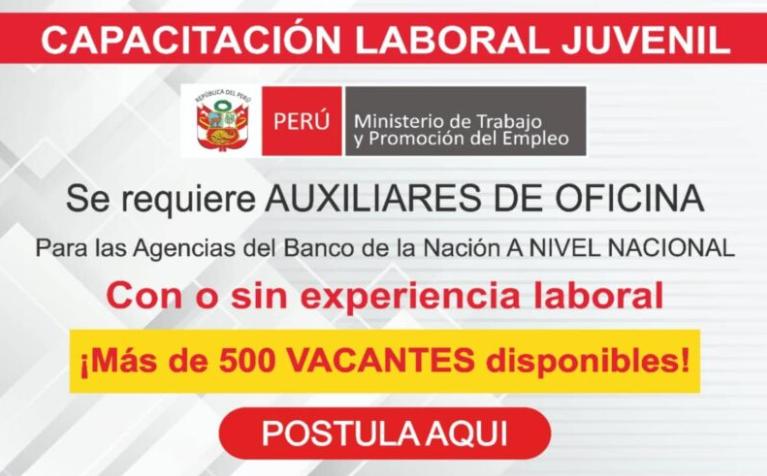 500 vacantes para el bna