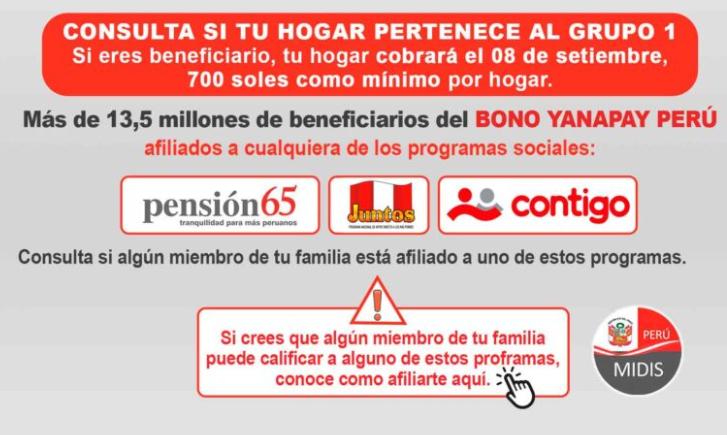 bono yanapay consultar hogar