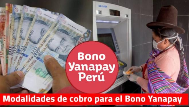 modalidades de pago bono yanapay