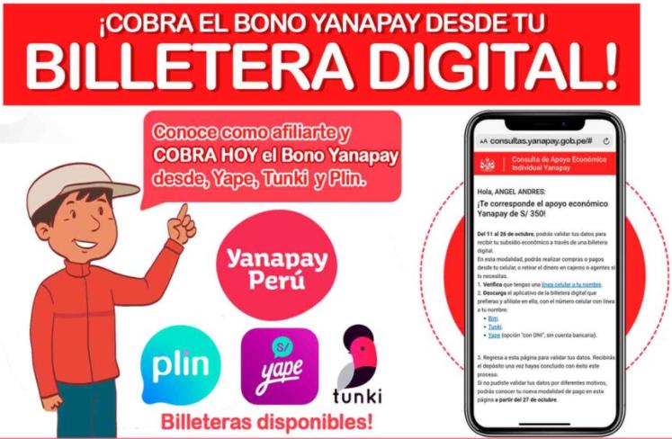 bono yanapay billetera digital